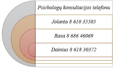 Psichologų konsultacijos